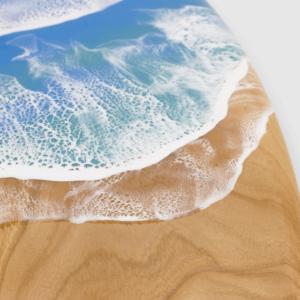 Surfboard wall art beach house decor