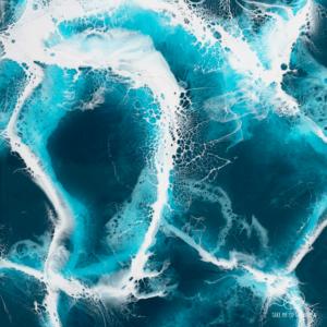 atlantic ocean resin art