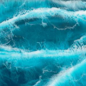atlantic ocean resin art close up