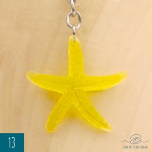 Yellow seastar keychain