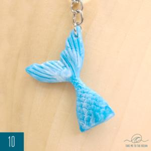 Mermaid tail keychain 10