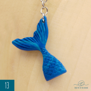 Mermaid tail keychain 13