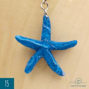Blue seastar keychain