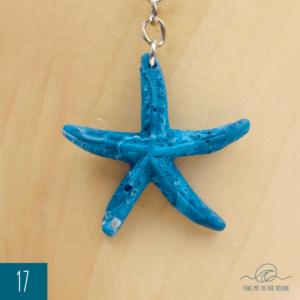 Ocean blue seastar keychain 2