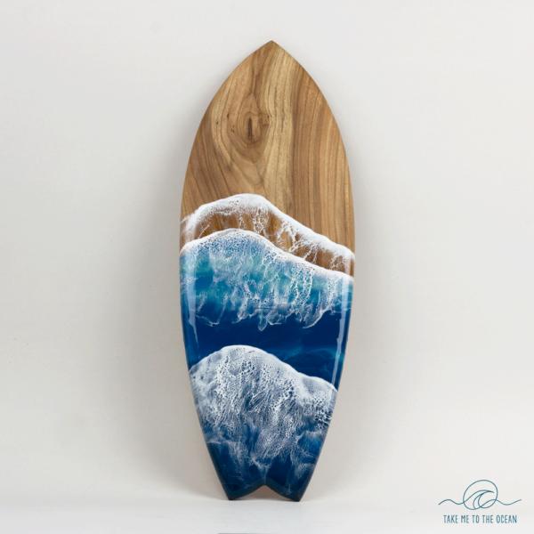 Surfboard resin ocean art