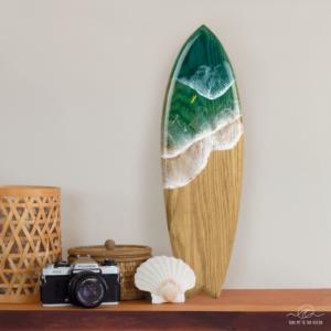 Big surf surfboard resin ocean art