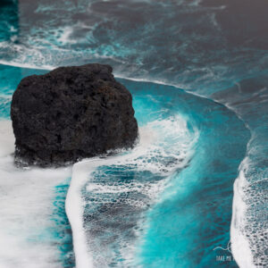 Volcano beach - resin ocean art