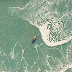 Big surf epoxy resin ocean art